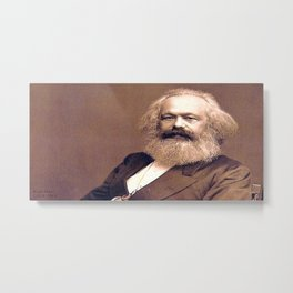 Portrait of Karl Marx by John Jabez Edwin Mayal Metal Print