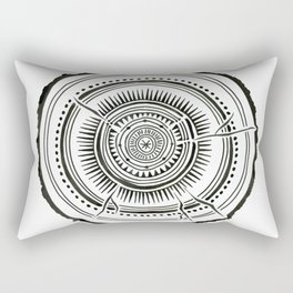 Quaking Aspen – Black Tree Rings Rectangular Pillow