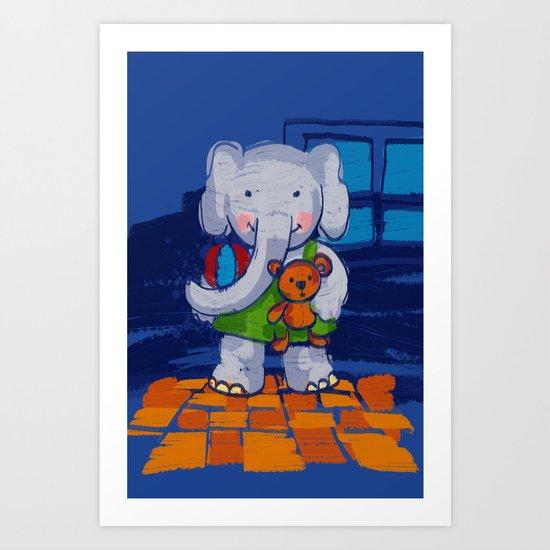 Playing Toys Art Print