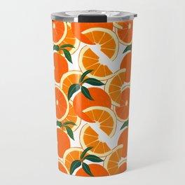 Orange Harvest - White Travel Mug