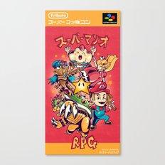 Tribute: Super Mario RPG Cover Canvas Print