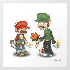 Bros. Art Print