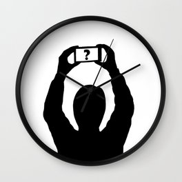 Man with mobile phone Wall Clock