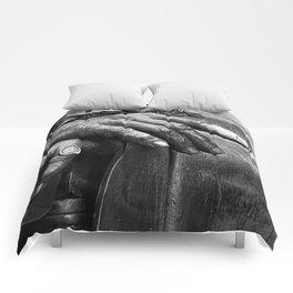 Hands of Wisdom - Black & White Comforters