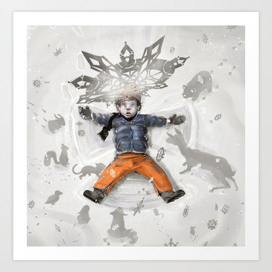Snow Angel Art Print