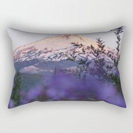 Mt Hood Wildflowers Rectangular Pillow