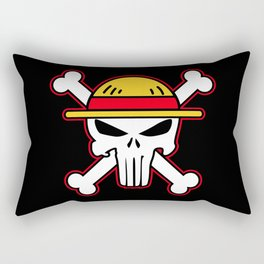 Straw Hat punisher Rectangular Pillow