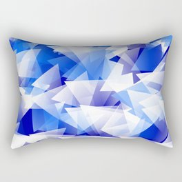 triangles in shades of blue Rectangular Pillow