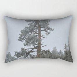 Ponderosa Pine In The Mist Rectangular Pillow