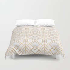 Golden Geo Duvet Cover