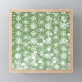 Holiday Mint and Flurries Framed Mini Art Print