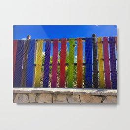 Fence of Many Colors  Metal Print