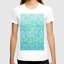 Teal Mermaid Scales T-shirt