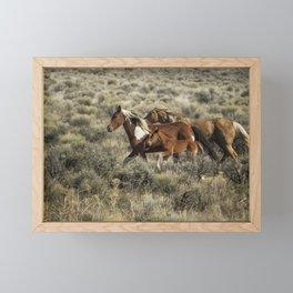 Running Together Framed Mini Art Print