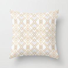 Golden Geo Throw Pillow