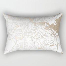 Amsterdam White on Gold Street Map II Rectangular Pillow