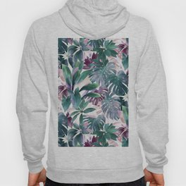 Tropical Emerald Jungle in light cool tones Hoody