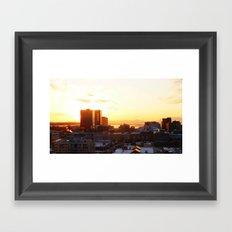 Anchorage Sunset Framed Art Print