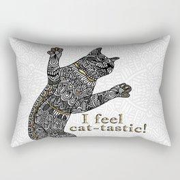 I feel cat-tastic! Rectangular Pillow