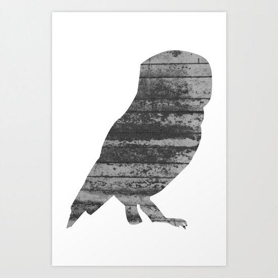 Owl (The Living Things Series) Art Print