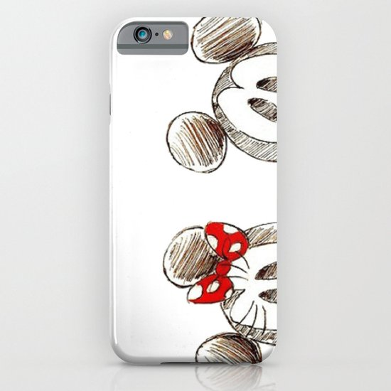 Mickey and Minnie Mouse.  iPhone & iPod Case