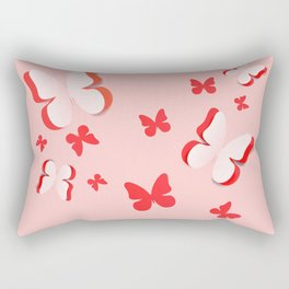 Cut out paper butterfly Rectangular Pillow