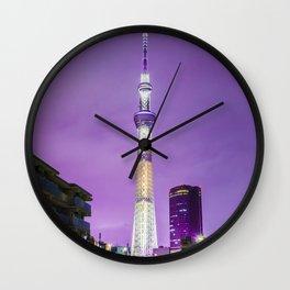 The Tokyo Skytree at night Wall Clock