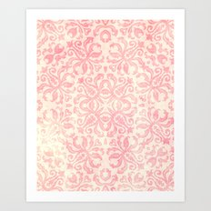 Shabby Arabesque Pattern Art Print