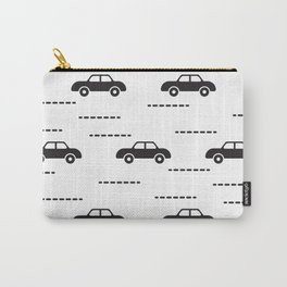 Black automobile road pattern Carry-All Pouch