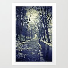 A walk through the park I Art Print
