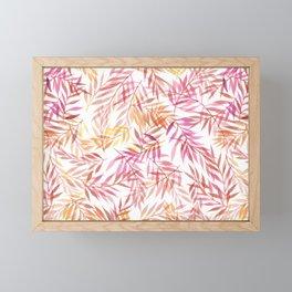 Watercolour Ferns | Pink and Yellow Framed Mini Art Print