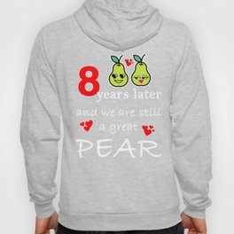 8th Anniversary Great Pear Eighth Wedding print Hoody