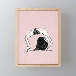 Dancing girl egyptian ostracon Framed Mini Art Print