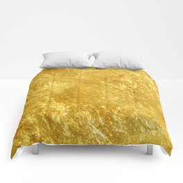 Golden Texture #lifestyle #society6 Comforters