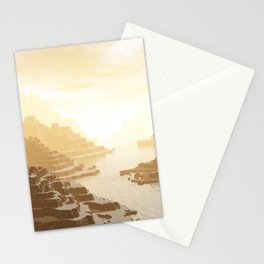 Misted Mountain River Passage Stationery Cards