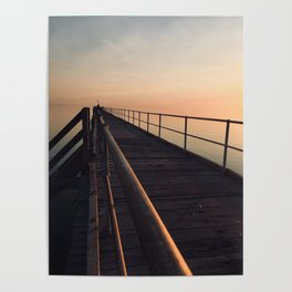 The Port Germein jetty is the longest in South Australia and, reputedly, the longest in the southern Poster