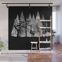 MTB Black Trees Wall Mural