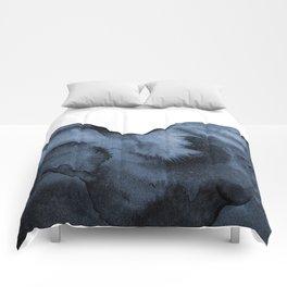 Watercolor Splash in Blue Comforters