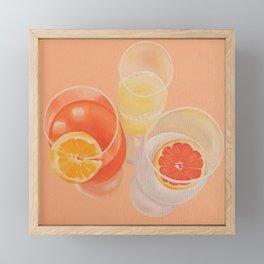 Pink Drinks Framed Mini Art Print