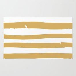 Golden Strokes Rug