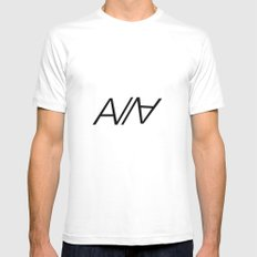 ABRCWESOME MEDIUM White Mens Fitted Tee