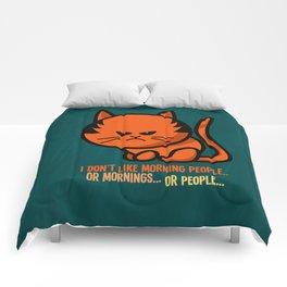Moody cat Comforters