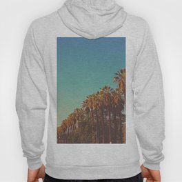California Row Of Palm Trees Blue Hue Ombre Sky Landscape Photography Hoody