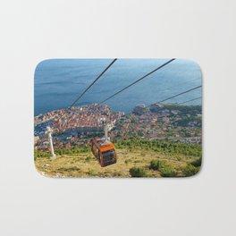 Aerial View of Dubrovnik, Croatia Bath Mat