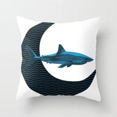 Shark Side of the Moon Throw Pillow