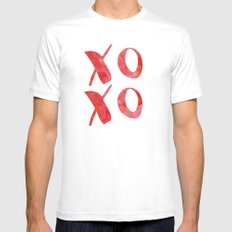 xoxo red watercolor MEDIUM White Mens Fitted Tee