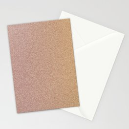 Peach Pink Glitter Stationery Cards