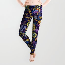 Ripe autumn – purple and yellow Leggings