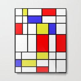 Mondrian #58 Metal Print