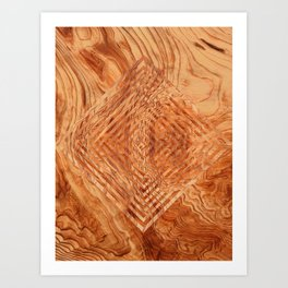 Wood case Art Print
